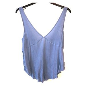 Baby blue, free people flowy tank